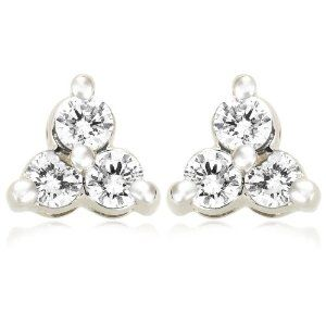 14k White Gold Round Diamond Stud Earrings Under 100 Dollars