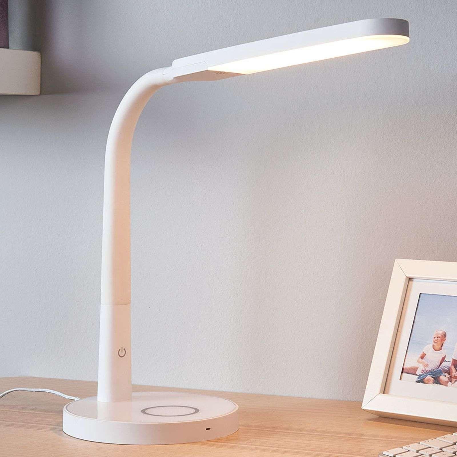Lampe De Bureau Led Blanche Maily Port Usb En 2020 Lampe De Bureau Lampe De Bureau Led Eclairage De Bureau