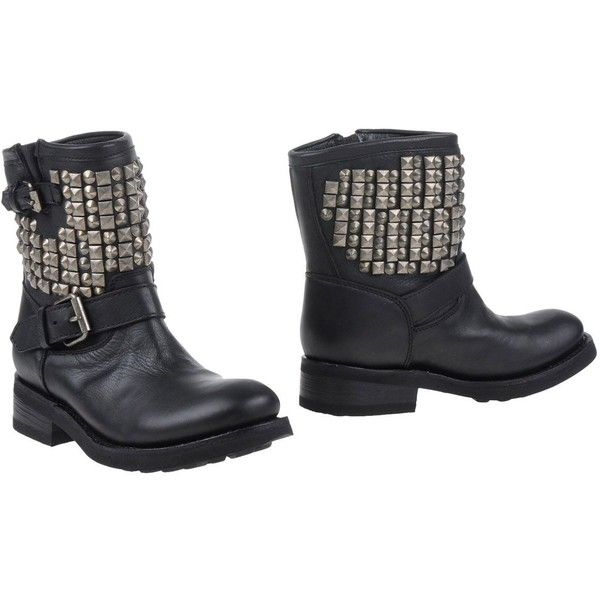 Ash Ankle Boots ($260) ❤ liked on Polyvore featuring shoes, boots, ankle booties, black, ankle boots, black ankle boots, buckle ankle boots, black ankle bootie and black buckle booties