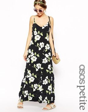 0b863bf80 ASOS PETITE Exclusive Vintage Floral Strappy Maxi Dress | Closet ...