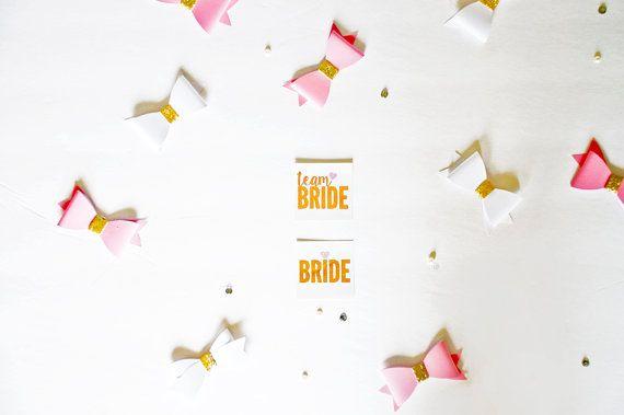 Team bride and bride tattoos – set of 12 – bachelorette party tattoos hen party tattoos stagette tat