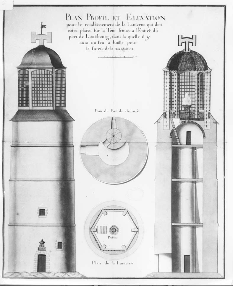 Lighthouse Warehouse Halifax: Plans For The First Louisbourg Lighthouse