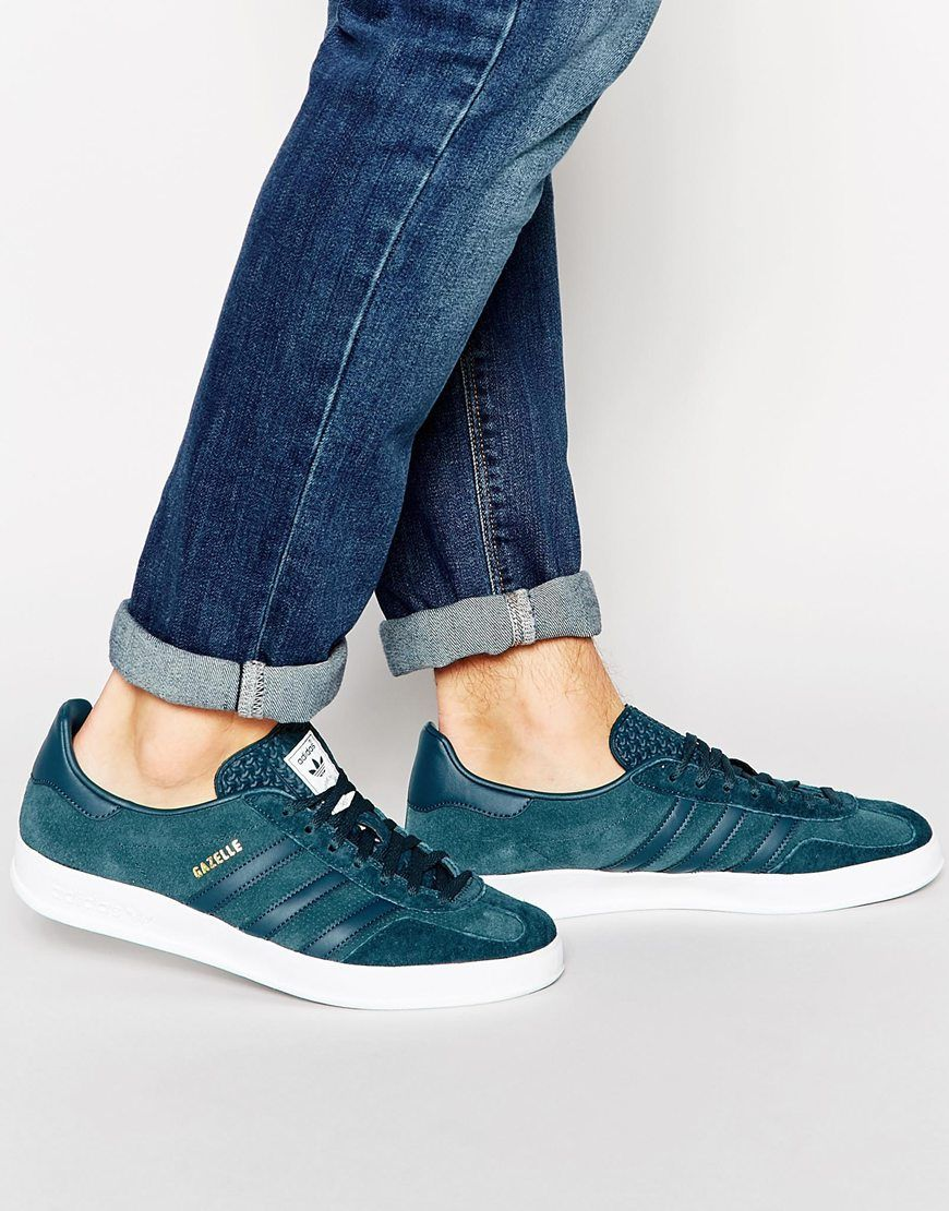 adidas gazelle indoor mens trainers in navy blue