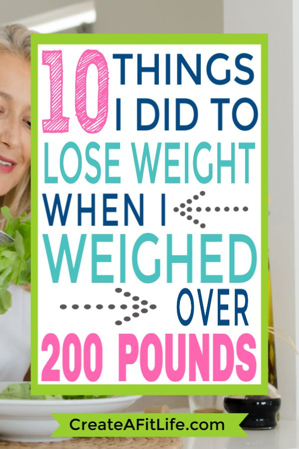 How to Lose Weight When You Weight Over 200