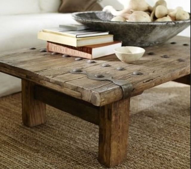 Pottery Barn HASTINGS RECLAIMED WOOD COFFEE TABLE In 2019