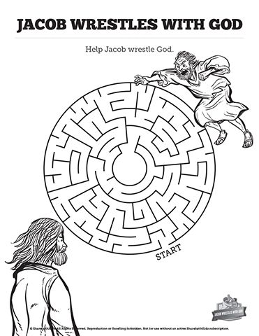 Jacob Wrestles With God Bible Story Mazes Fun With Just Enough