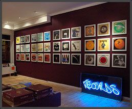 Hanging Records On Wall art vinyl. hang records and play them easily. so expensive, though