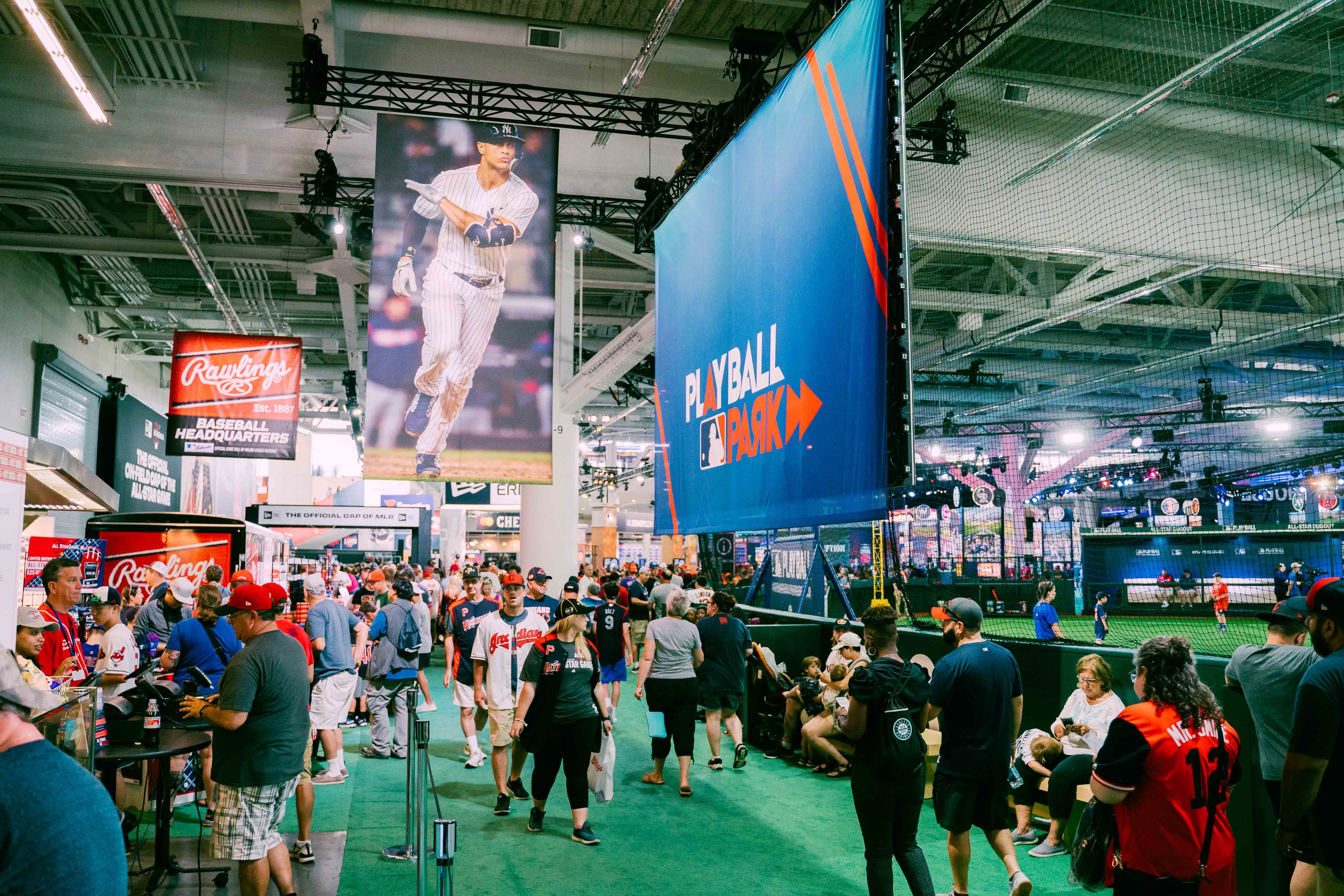 Inside Of Mlb S Play Ball Park Convention Centre Play Ball Downtown Cleveland