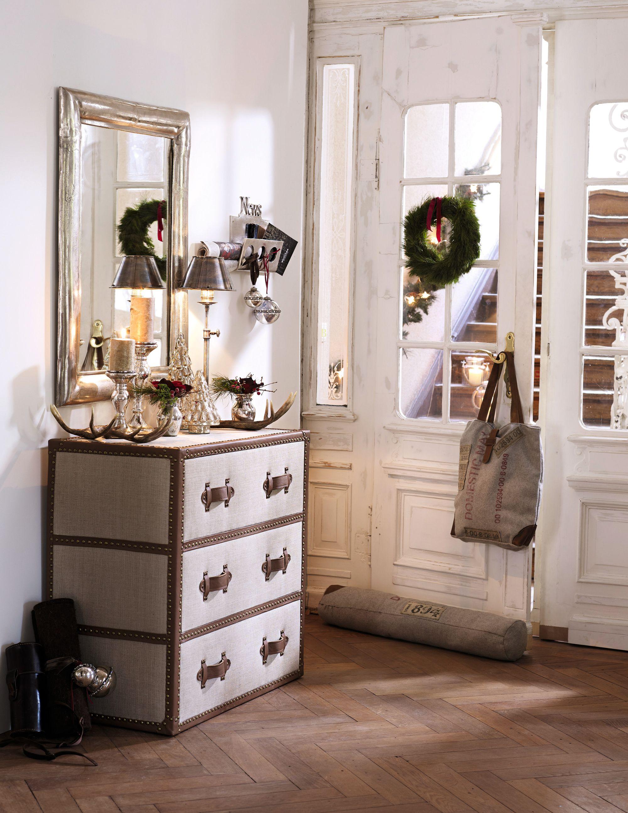 weihnachtliche deko im eingangsbereich loberon christmas xmas weihnachten weihnachten. Black Bedroom Furniture Sets. Home Design Ideas