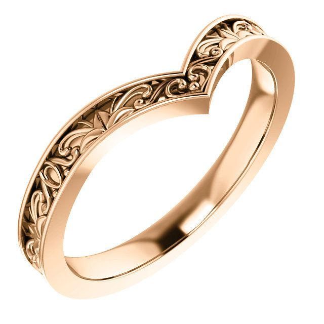 14k Rose Vintage Inspired V Ring Rings Pinterest Schmuck