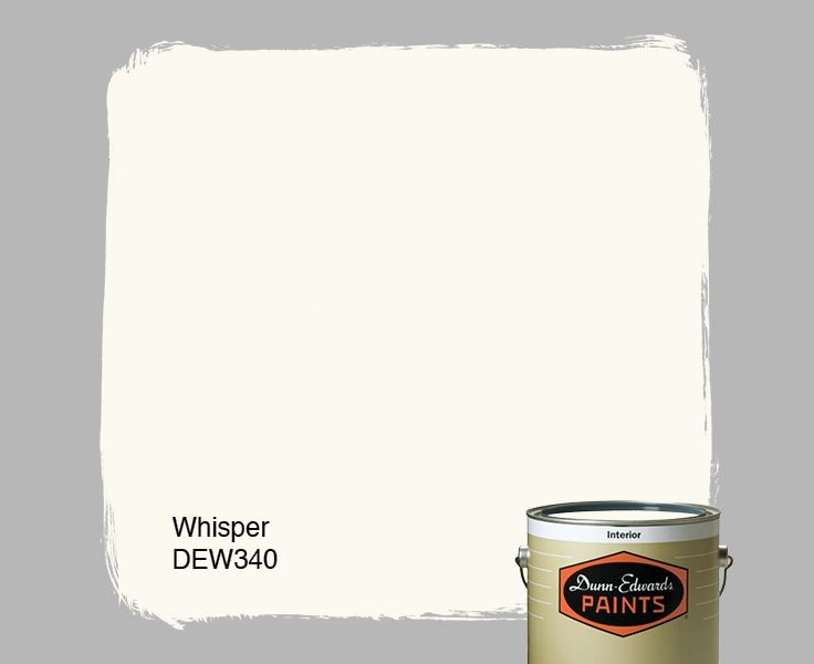 Dunn-Edwards Paints white paint color: Whisper DEW340 | Click for ...