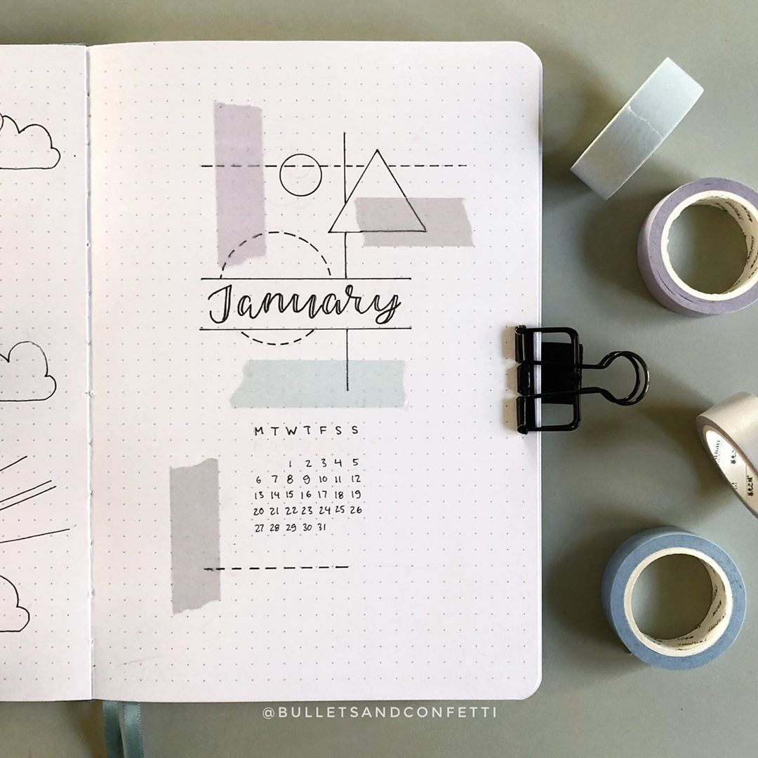 "#kreative ideen januar Silje | Bullet journalist on Instagram: ""I felt like doing a more minimal theme for January. I'm just beginning to get to know my new Archer & Olive journal. I can see why so many…"" #bulletjournaljanvier"