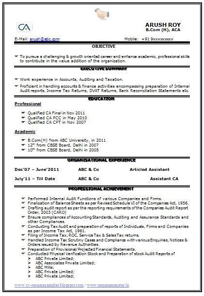 qualified ca resume  page 1