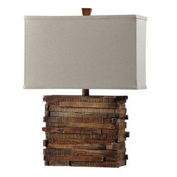 Kohls Table Lamps Adorable $13124  Rustic Wood Table Lamp  1X100W 3Way Bulb  Kohl's Design Ideas