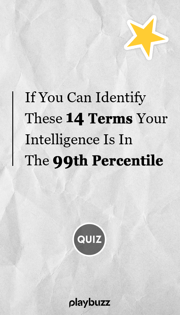 If You Can Identify These 14 Terms Your Intelligence Is In The 99th