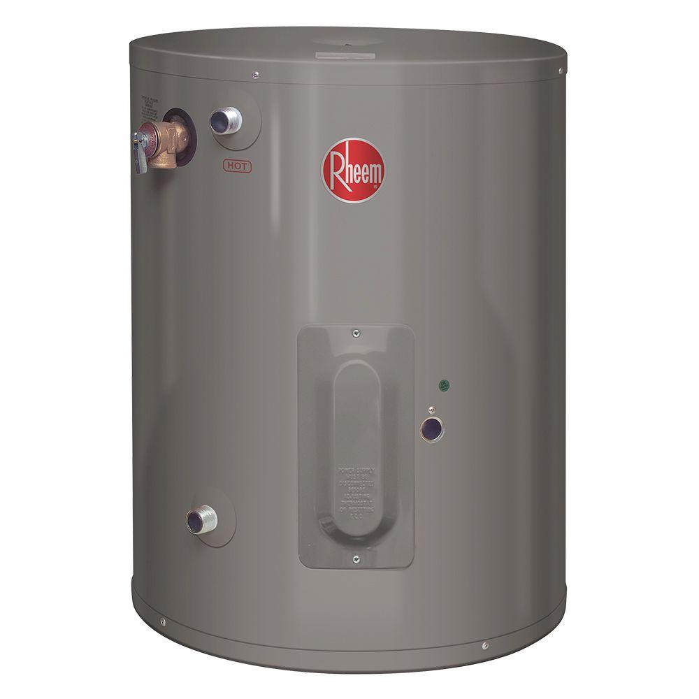 Rheem Performance 20 Gal 6 Year 2000 Watt Single Element Electric Point Of Use Water Heater Xe20p06pu20u0 Electric Water Heater Water Heater Heater