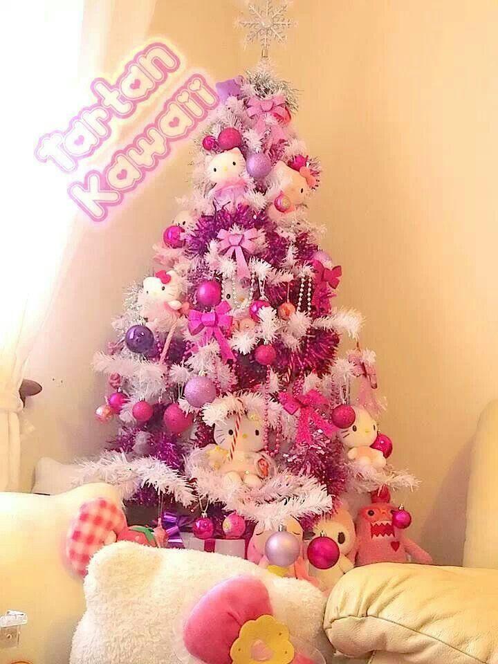 hello kitty christmas tree hello kitty obsession pinterest. Black Bedroom Furniture Sets. Home Design Ideas