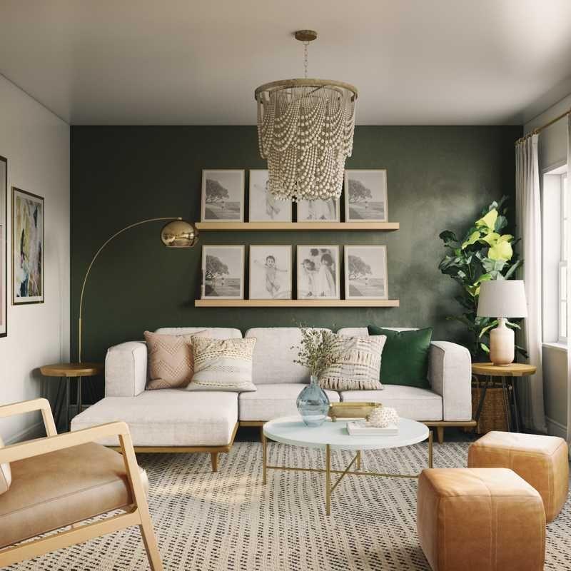 Bohemian Living Room Design By Ghianella Green Living Room Decor Sage Green Living Room Green Walls Living Room