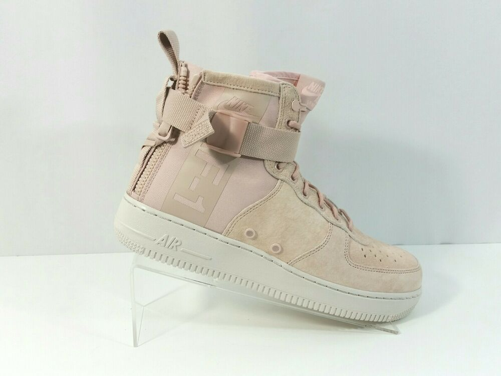 Nike SF AF1 Air Force 1 Mid Shoes Particle Beige Pink AA3966