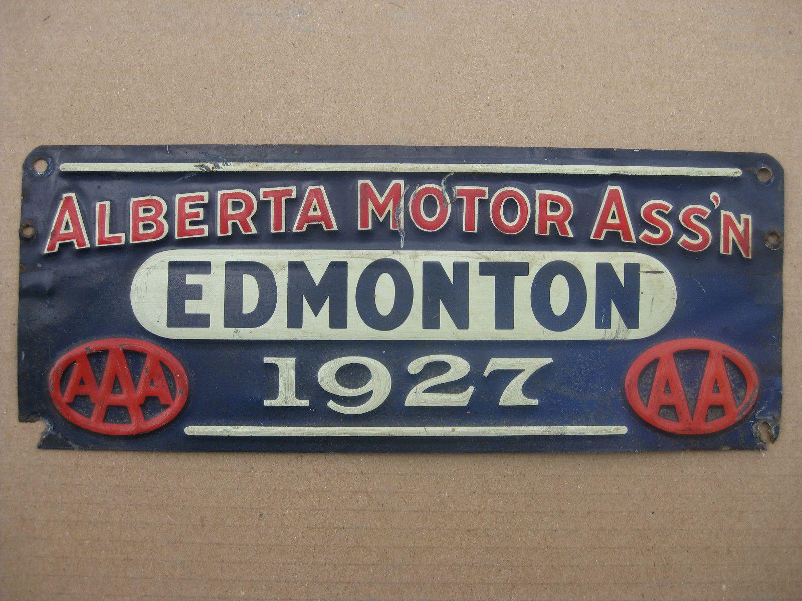Alberta Motor Association - Edmonton - 1927  | Vintage
