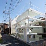 Yuusuke Karasawa's maze-like S House has an entirely transparent facade