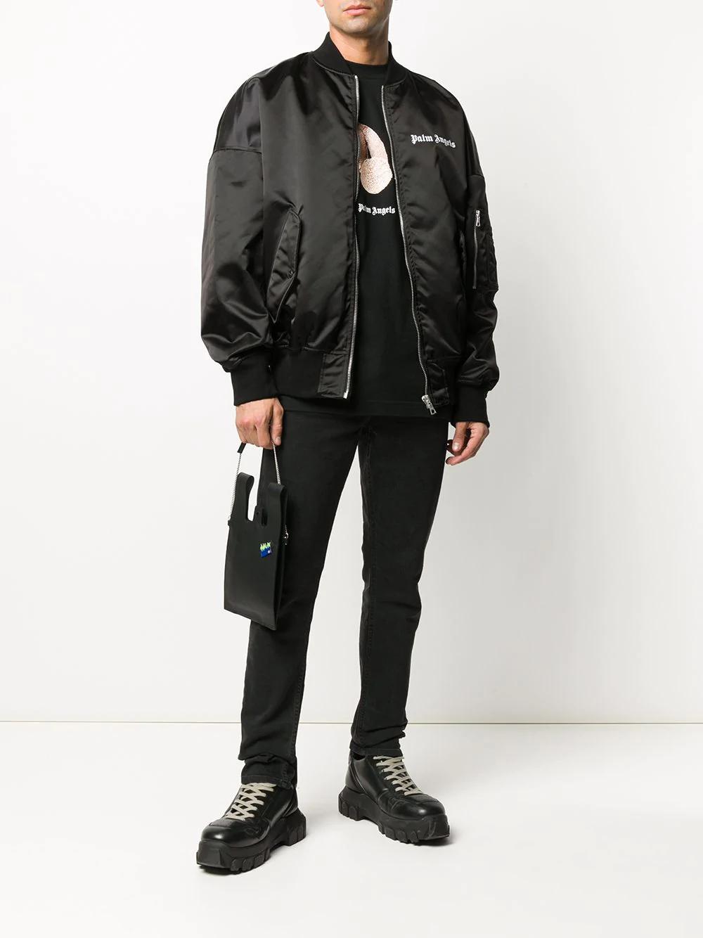 Ao Khoac Bomber Chất Liệu Vải Bong Bomber Jacket Printed Bomber Jacket Black Bomber Jacket [ 1334 x 1000 Pixel ]