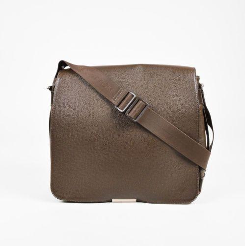 5002be0d87f7 Louis-Vuitton-Dark-Brown-Army-Green-Taiga-Leather-034-Viktor-034-Messenger- Bag