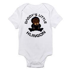 7c351eb30 Star Trek Daddys Little Klingon Infant Bodysuit > Daddys Little Klingon Star  Trek Baby T-shirts > www.cafepress.com/hometownshirt2 #StarTrek #Trekkie