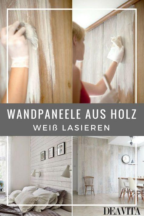 Wandpaneele Aus Holz Weiss Lasieren 35 Ideen Furs Landhaus Wandpaneele Holzpaneele Wandverkleidung Holz
