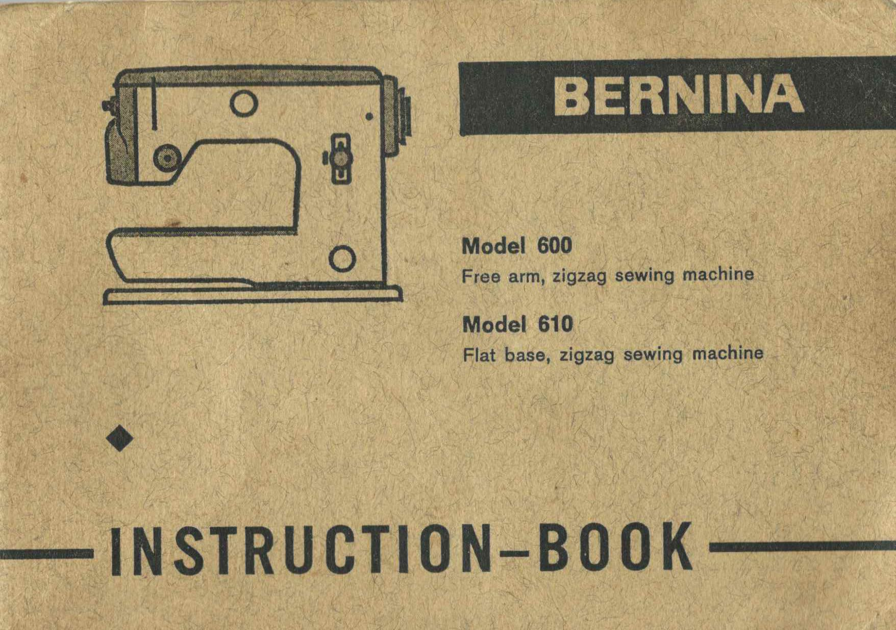complete manual for 610 and 700 sewing machine  bernina vintage instructions