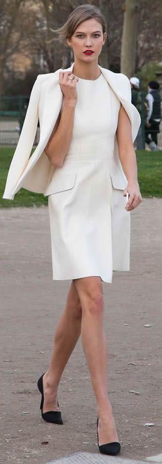 Karlie Kloss all in White