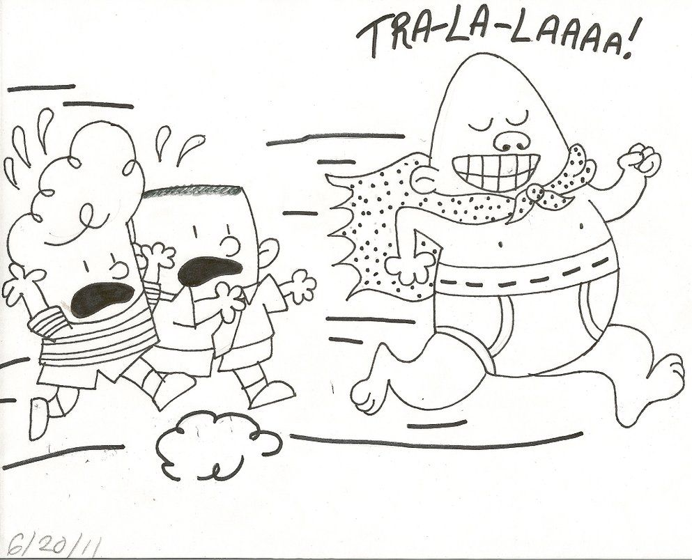 coloring page of captain underpants enjoy coloring homestead