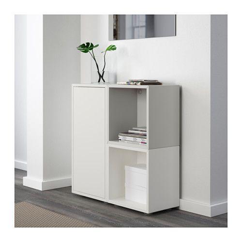 eket combinaison rangement avec pieds blanc gris bureau pinterest combinaisons ikea et gris. Black Bedroom Furniture Sets. Home Design Ideas