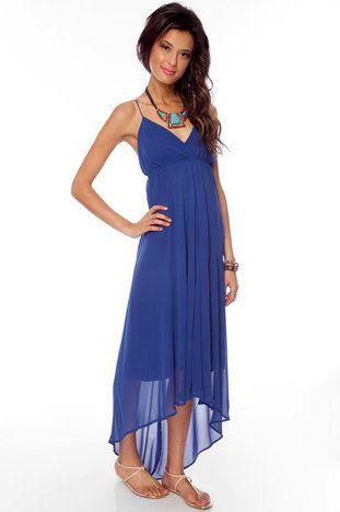 No Crossing Maxi Dress in Blue $43 at www.tobi.com