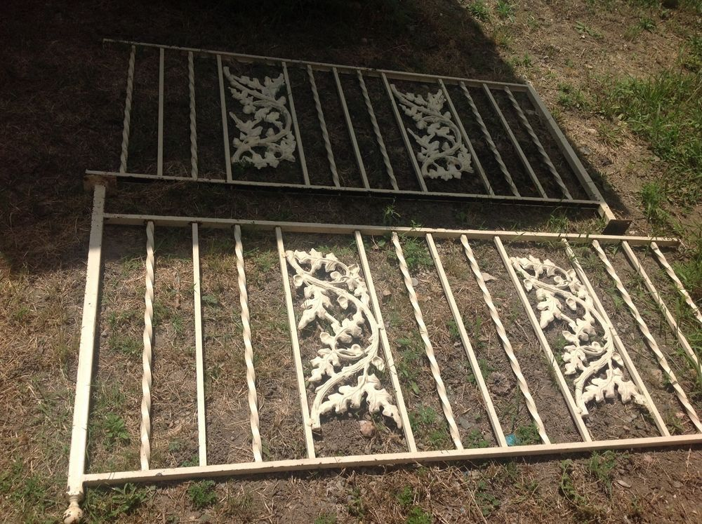 Vintage Wrought Iron Railing Porch Rail Railing Architectural Salvage Garden Porch Wrought Iron Architectural Salvage