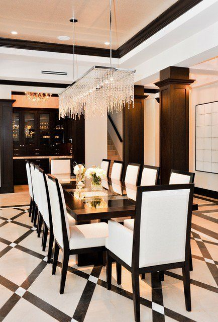 18 extravagant black white dining rooms that are worth seeing rh pinterest com