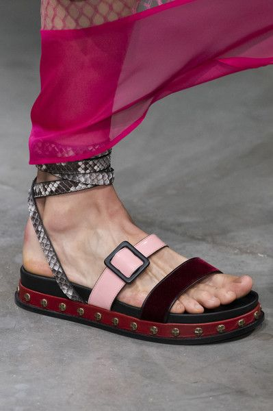 Ports 1961 at London Fashion Week Spring 2020 is part of Trending sandals, Trending womens shoes, Womens summer shoes, Fashion shoes flats, Womens fashion shoes, Trending shoes - Ports 1961 at London Fashion Week Spring 2020  Details Runway Photos