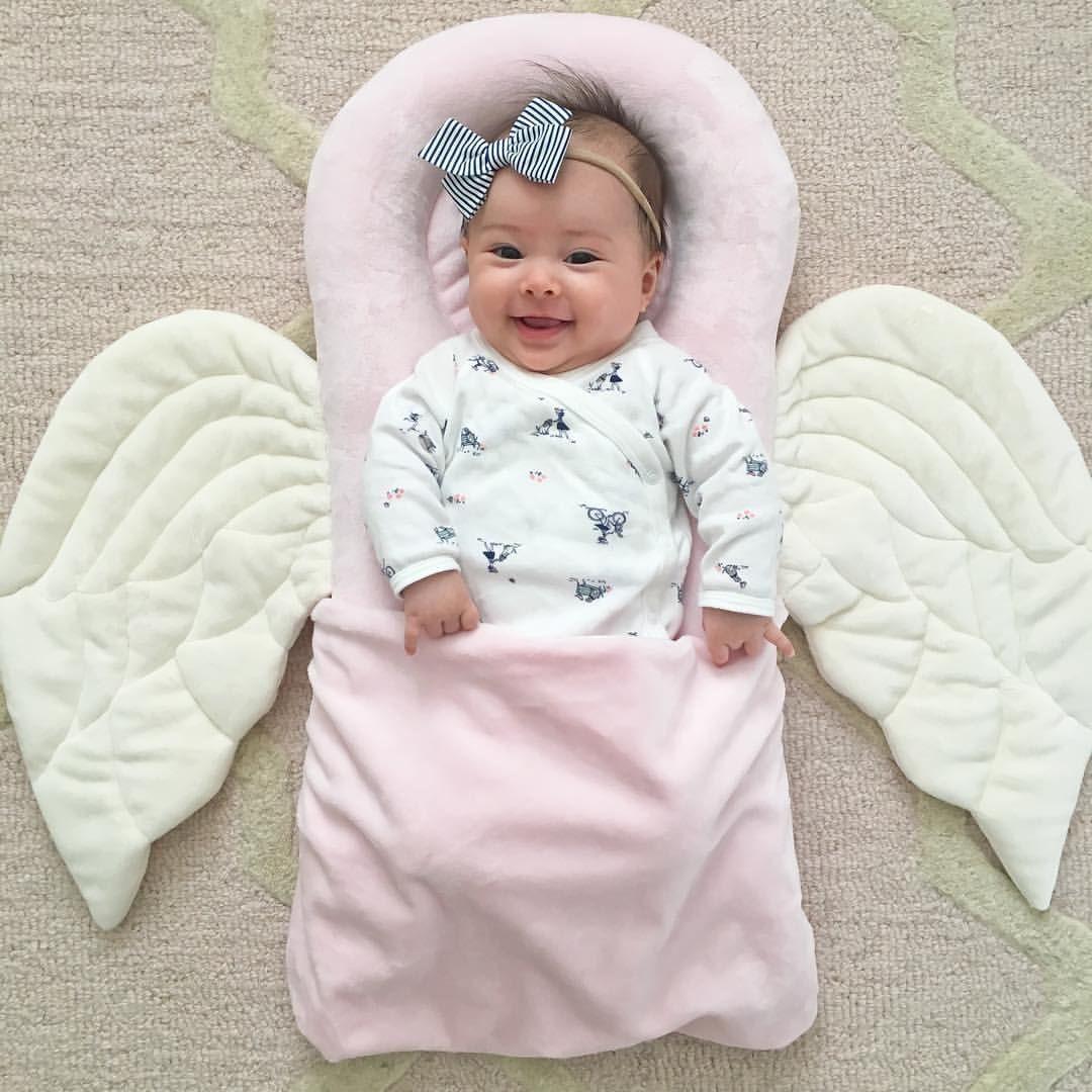 Pink Angel Pillow Baby Girl Newborn Photography 4