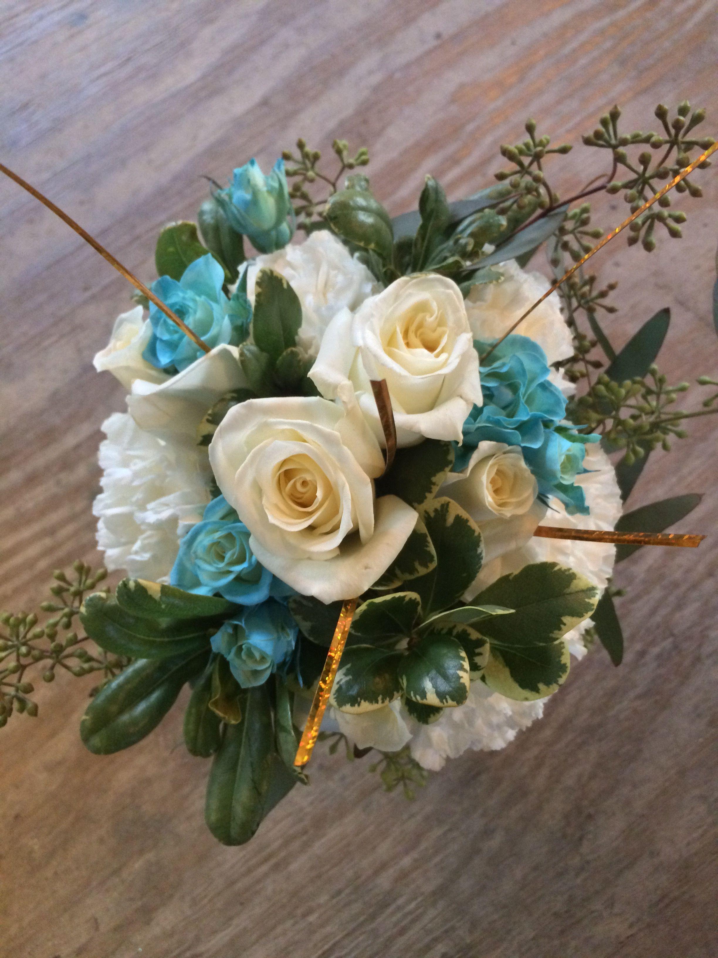 Small bouquet tiffany blue flowers wedding flowers pinterest small bouquet tiffany blue flowers izmirmasajfo