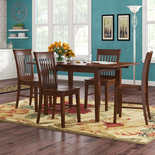 Antonio Butterfly Leaf Solid Wood Breakfast Nook Dining Set Breakfast Nook Dining Set Nook Dining Set Dining Room Sets