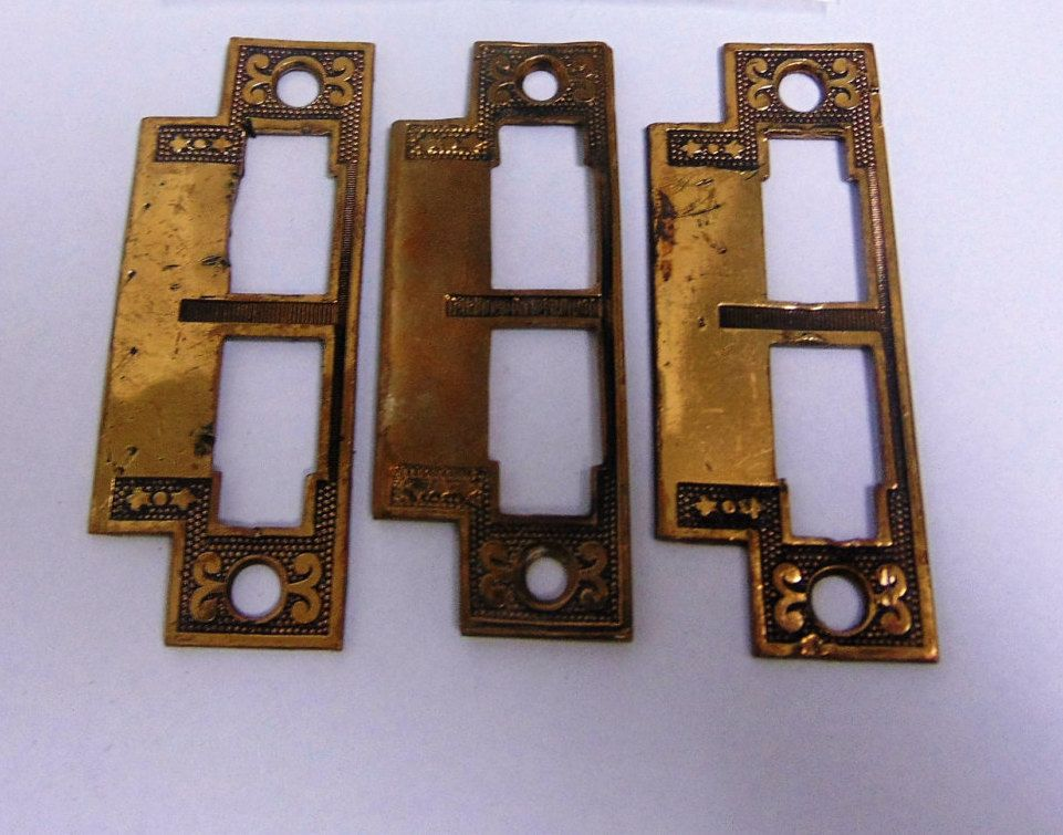 Lot of Antique Strike Plates For Mortise Locks E0012 by CharlestonHardwareCo on Etsy & Lot of Antique Strike Plates For Mortise Locks E0012 by ...