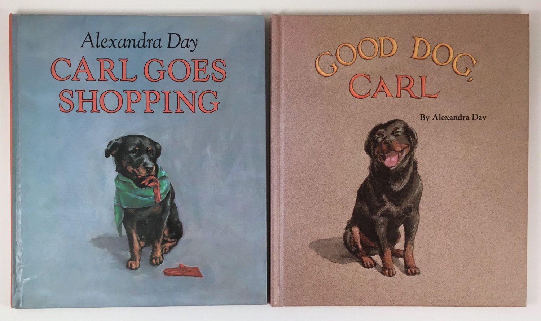 Vintage Illustrated Children S Books Rottweiler Good Dog Carl