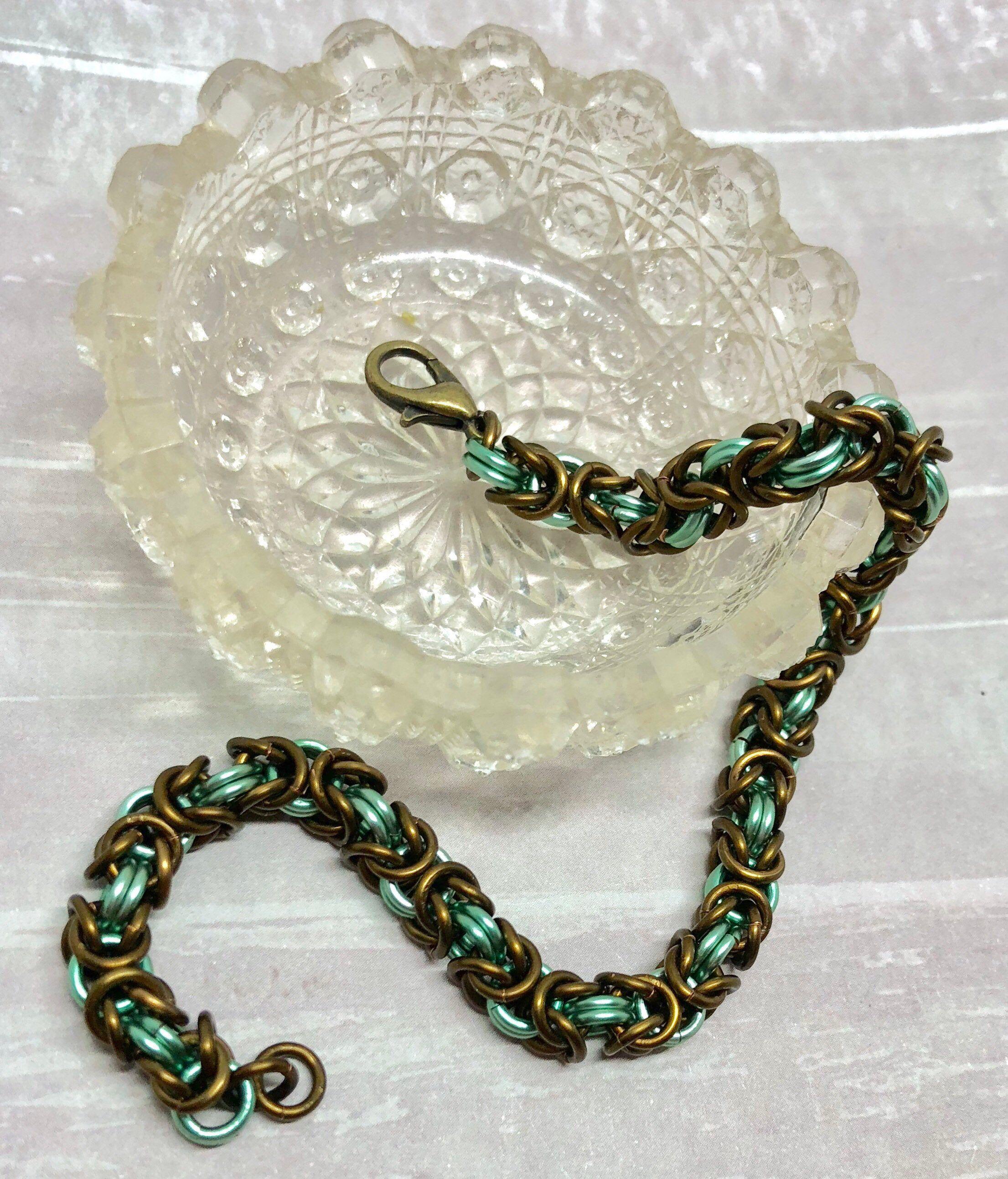 Teal Byzantine Bracelet