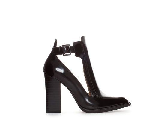 Image 1 of HIGH HEEL OPEN ANKLE BOOT STYLE COURT SHOE from Zara