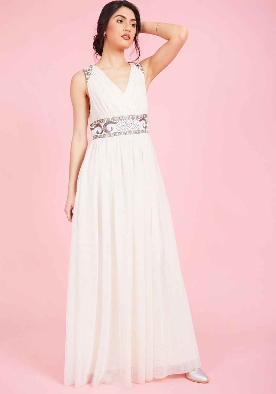 Cherished Merriment Maxi Dress in Ivory | Pinterest | Vestidos de ...