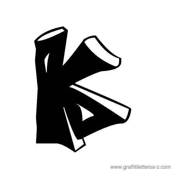 graffiti letter k