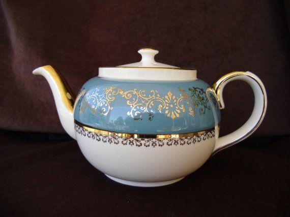 Vintage Sadler Betty Brown Teapot Made in by VickiesVintageVenue