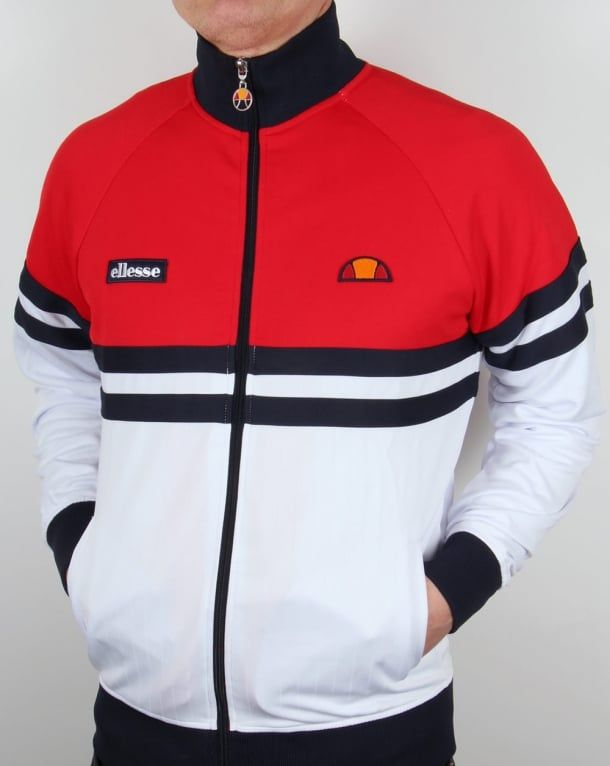 503e827a Ellesse Rimini 3 Track Top White/Red/Navy,tracksuit,jacket,mens ...