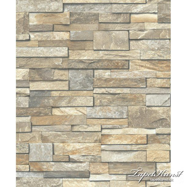 Stonewall Brick Effect Wallpaper Vinyl Stone Slate Stone