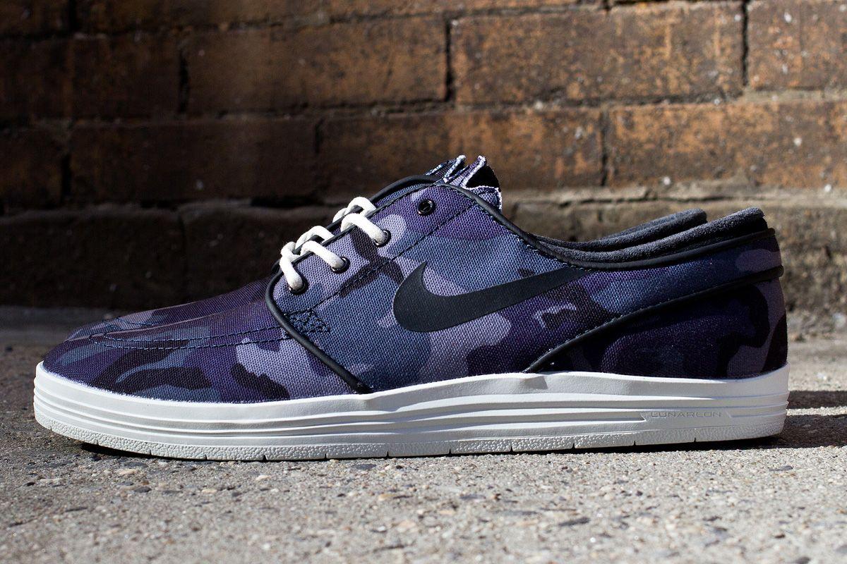 """newest bd172 5a875 Nike SB Lunar Stefan Janoski """"Dark Blue Camo"""""""